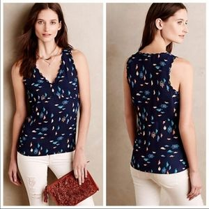 Anthro Maeve Top Navy with Turtle Design